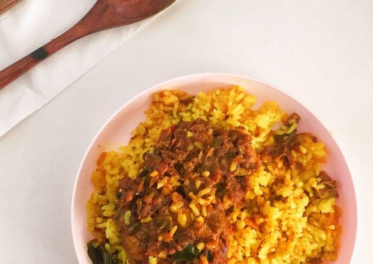 Nasi Kuning Tanpa Santan (dengan Fiber Creme)