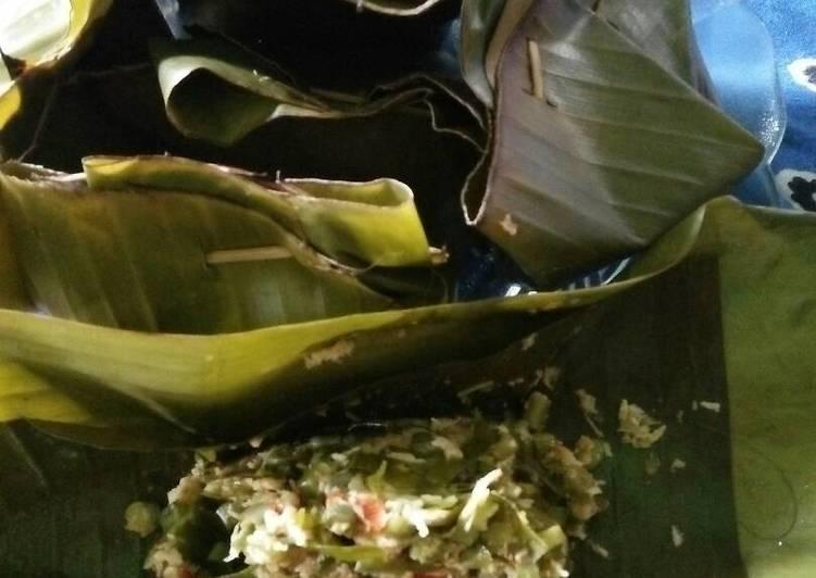 botok kacang papanjang daun melinjo ikan cucut foto resep utama