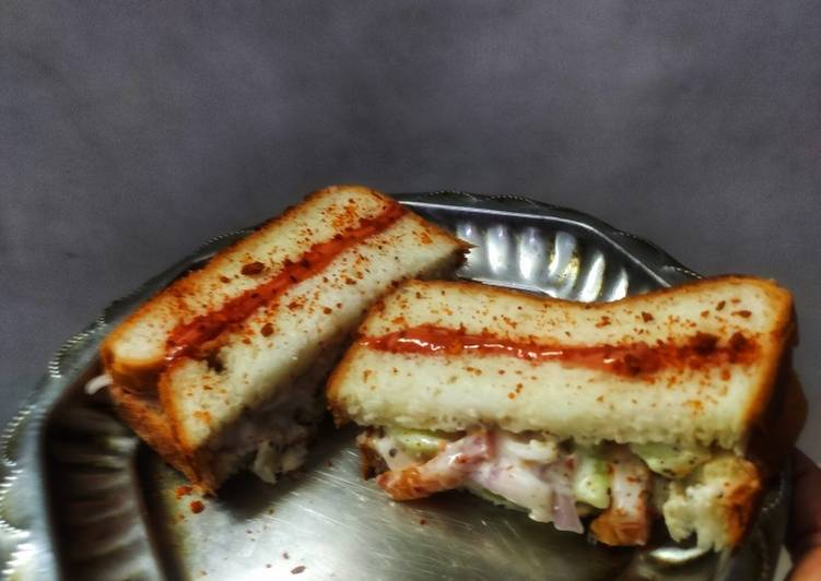 Steps to Prepare Most Popular Mayonnaise sandwich