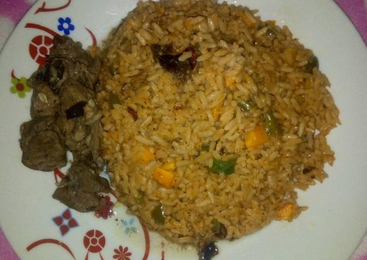 Jollof rice & Pepper Soup