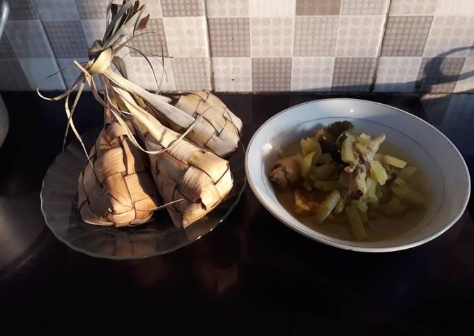 Ketupat sayur#siap ramadhan