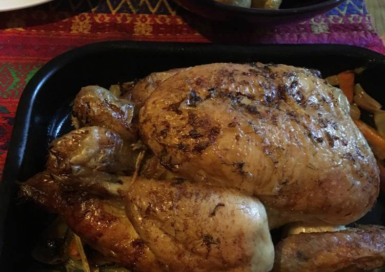 Recipe of Top-Rated Cava roast chicken with fennel and lemon