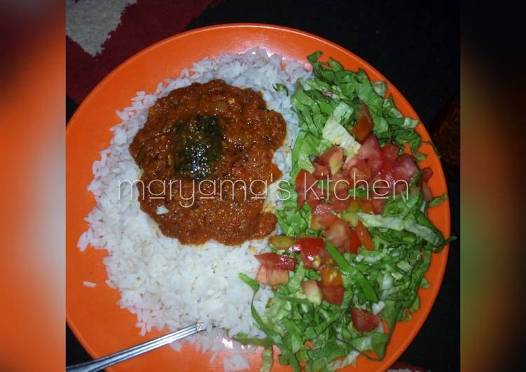 Steps to Prepare Perfect White rice & fish stew