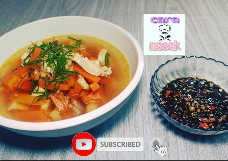 Resep Sup Ayam Merah Tanpa Msg Tanpa Minyak Sambal Kecap Mudah
