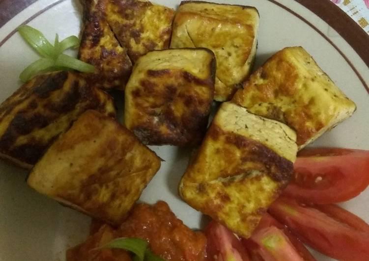 Menu diet GM day 5 tahu ungkep bakar saos tomat home made