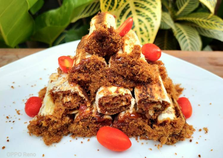 Sandwich Abon dengan Sauce Caramel