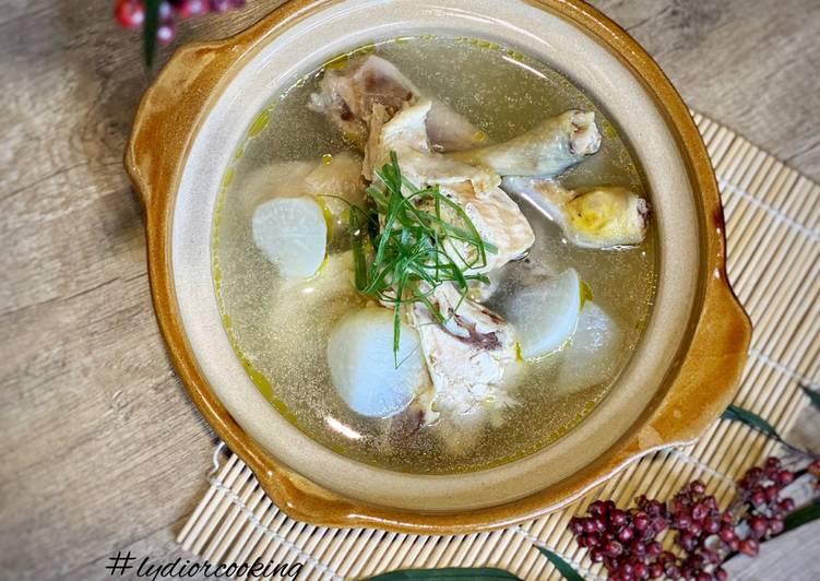 memasak  ayam  sedap  mudah aneka resep sop enak  mudah Resepi Sup Ayam Lobak Putih Enak dan Mudah