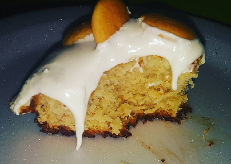 Steps to Prepare Speedy Banana Pudding Cake with Cream Cheese fluff icing