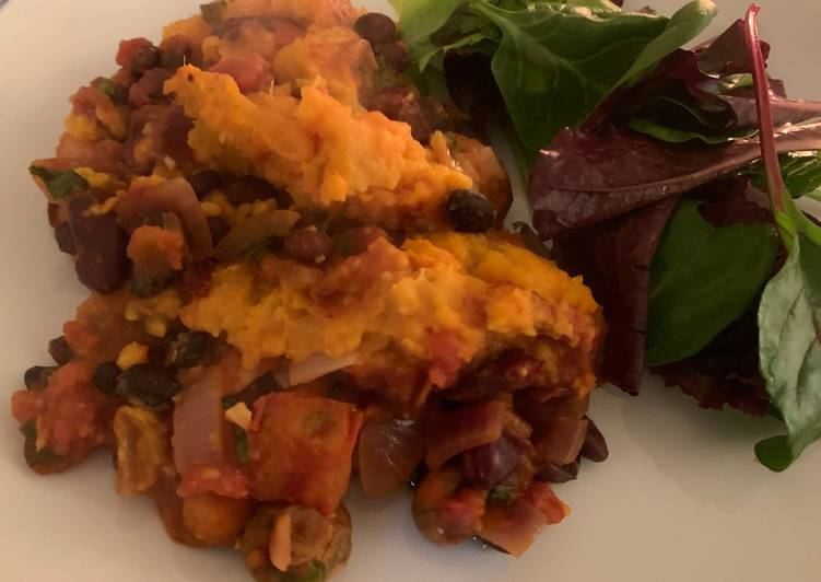 Easiest Way to Make Appetizing Sweet potato and black bean shepherds pie