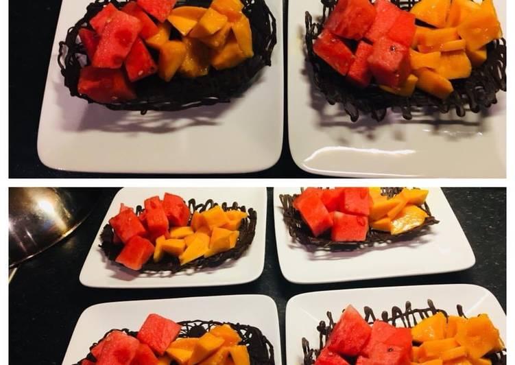 Fruit Chocolate Basket :