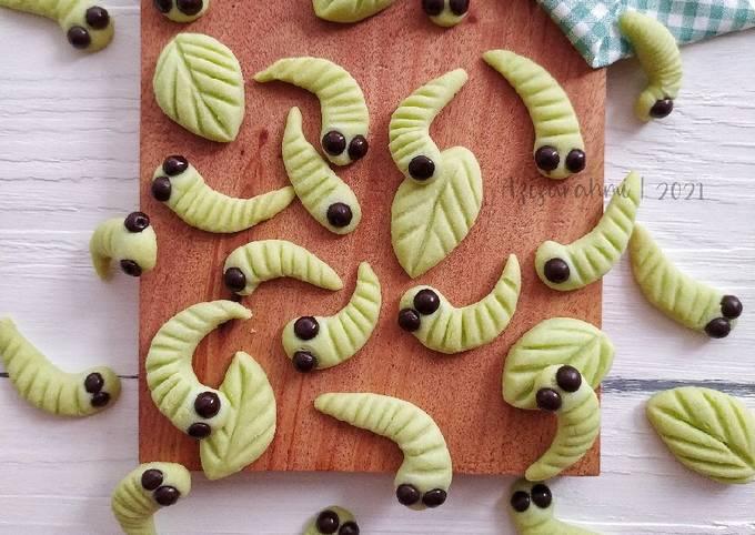Caterpillar Cookies (Kue Kering Ulat Hijau)