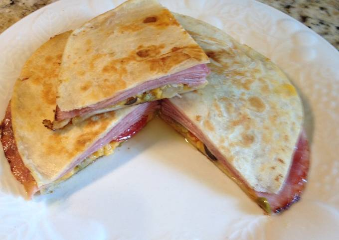 Ham & Cheese Quesadillas