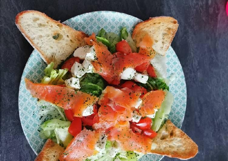 Comment Préparer Savoureux Salade à la truite