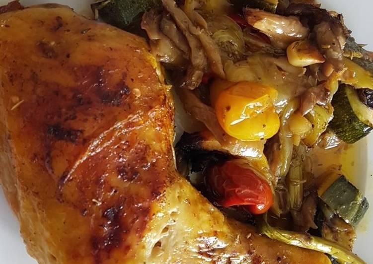 Cómo Hacer Perfecto Pollo asado con verduras