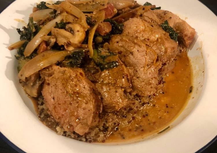Discover How to Elevate Your Mood with Food ''Double pork'' in a shallot mushroom and rosemary sauce