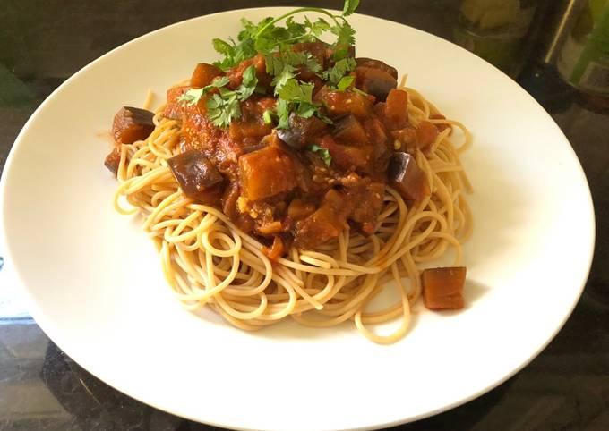 How to Prepare Tasty Easy spaghetti eggplant bolognese