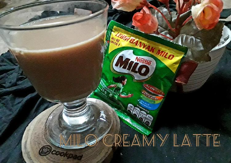 Milo creamy latte