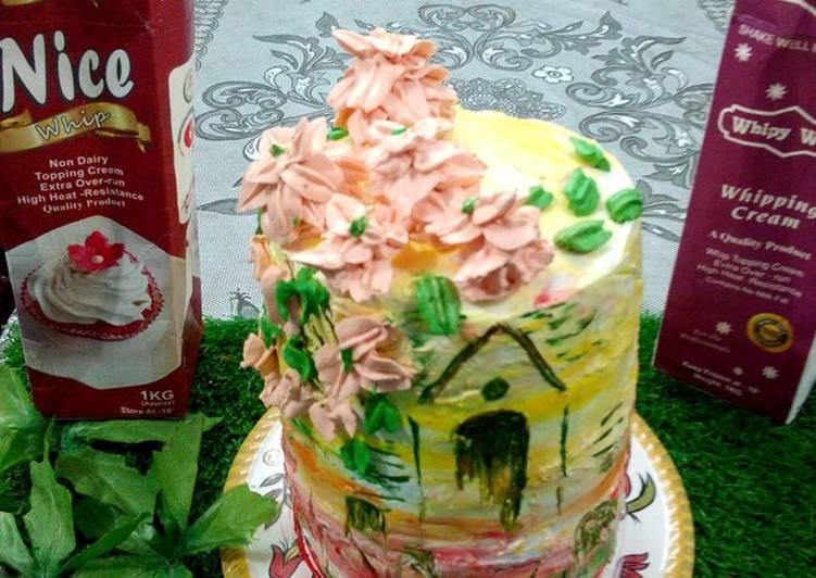 Paint on chocolate cake