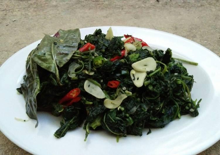 Resep Tumis Lembayung/ mbayung(daun kacang panjang) dan kenikir Yang Gampang Pasti Endes