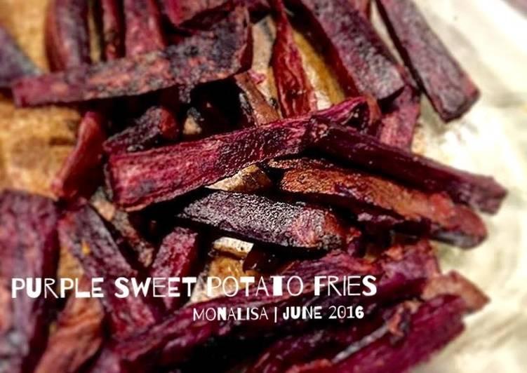 """Resep """"Fries"""" ubi ungu sehat low fat Paling dicari"""