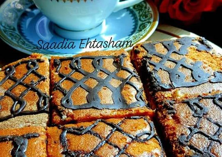 Marble cake in patela