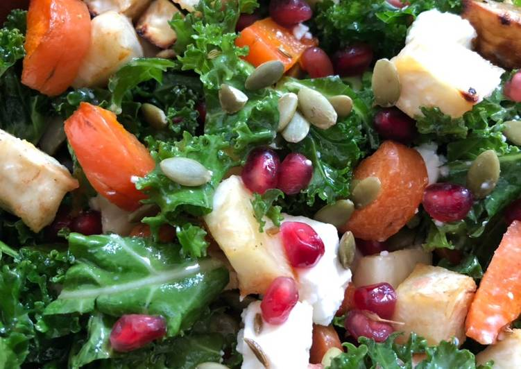 Roots and kale salad