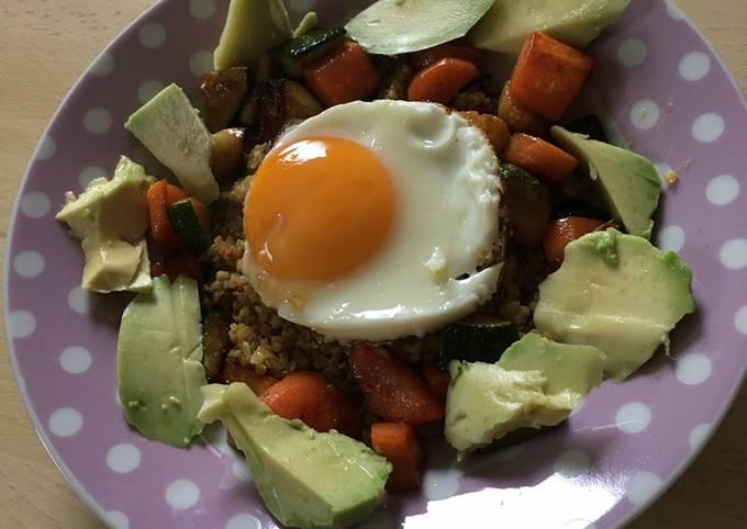 Assiette gourmande et healthy