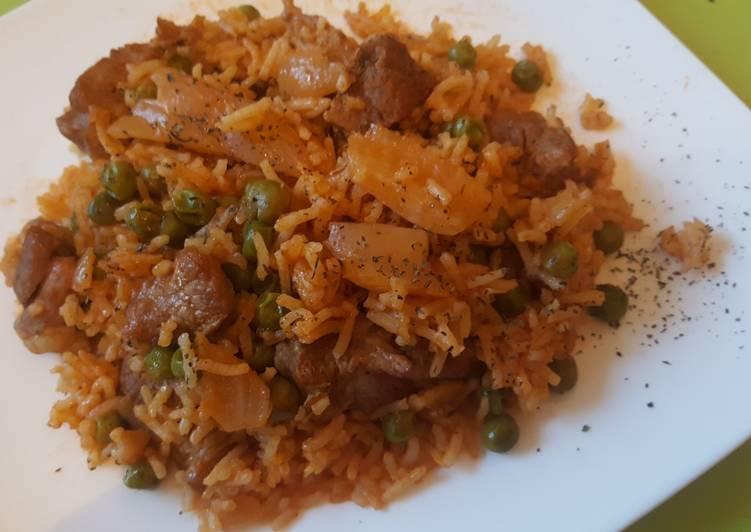 Recipe: Delicious Riz au Fenouil et Petits pois