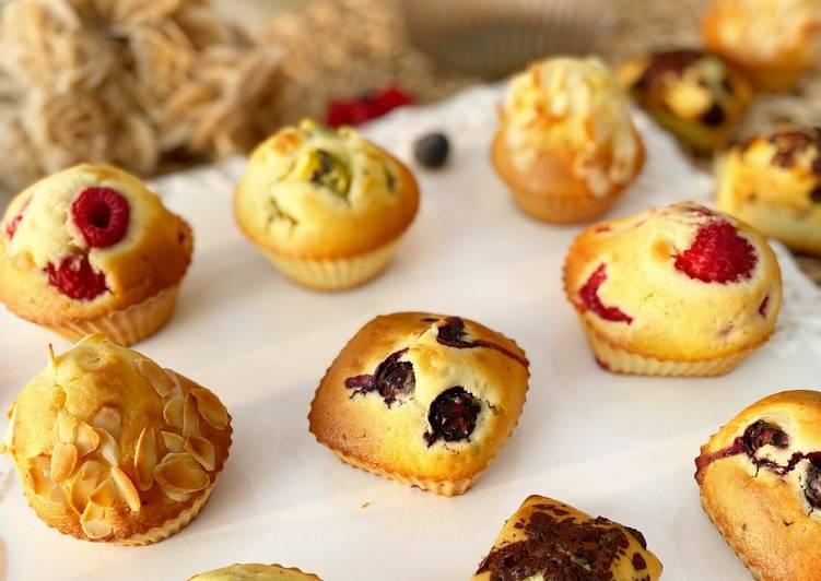Muffins au yaourt et aux fruits
