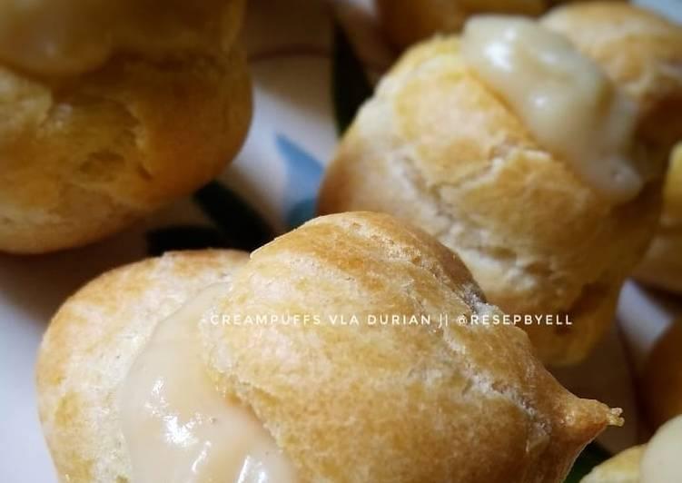 Cara Gampang Membuat Creampuffs (kue soes) isi durian yang Enak