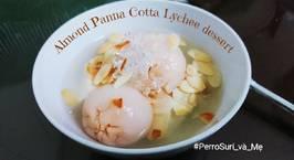 Hình ảnh món Baby Almond Panna cotta Lychee dessert - Chè khúc bạch em bé