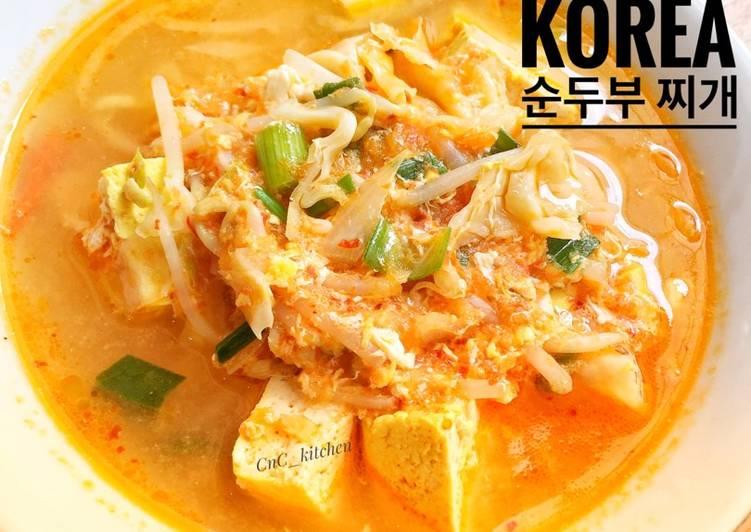 Sundubu Jjigae ~ Sup Tahu Pedas Korea