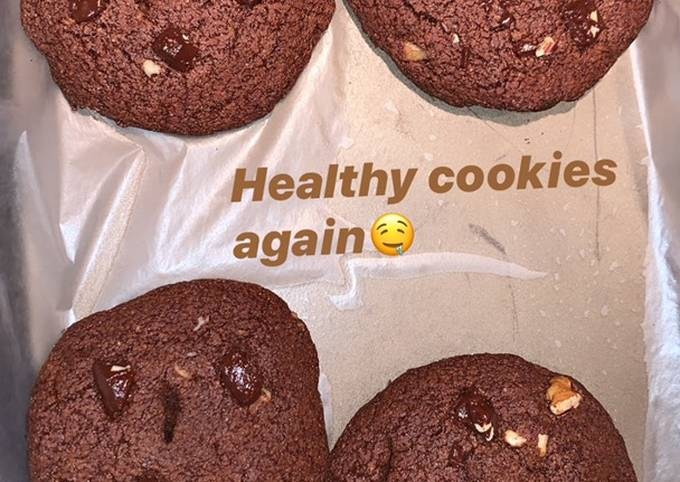 How To Make Healthy double chocolate cookies no sugar no flour!! Tasty