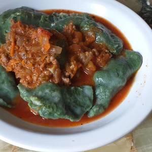 Raviolones de ricota y verdura