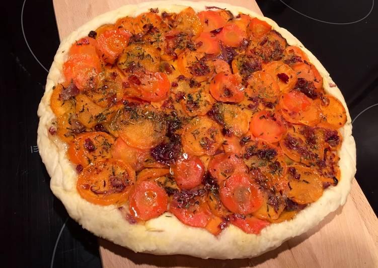 Tarte tatin de patate douce et carotte