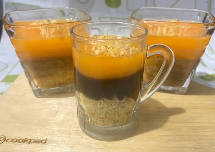 resep cara mengolah Puding coklat Mangga Regal