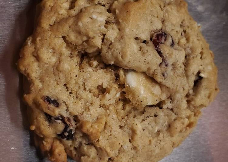 My White Chocolate Cranberry Oatmeal Cookies