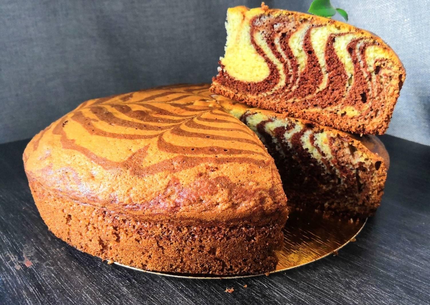 Зебра на кефире торт рецепт с фото