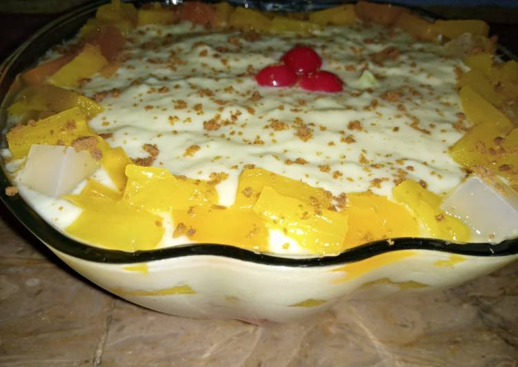 Fruit Custard Trifle Recipe