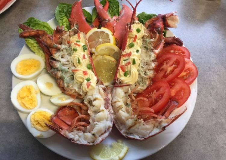 Le moyen le plus simple de Cuire Savoureux Table de Noël (assiette d'homard)