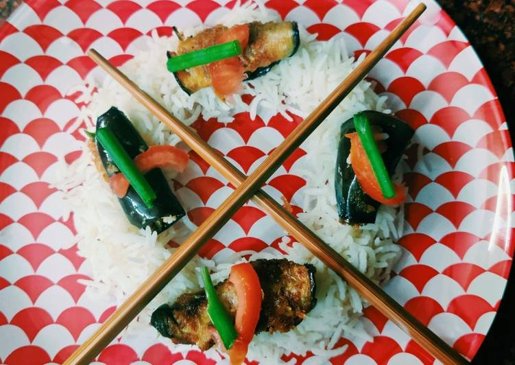 Recipe: Perfect Brinjal sushi with rice
