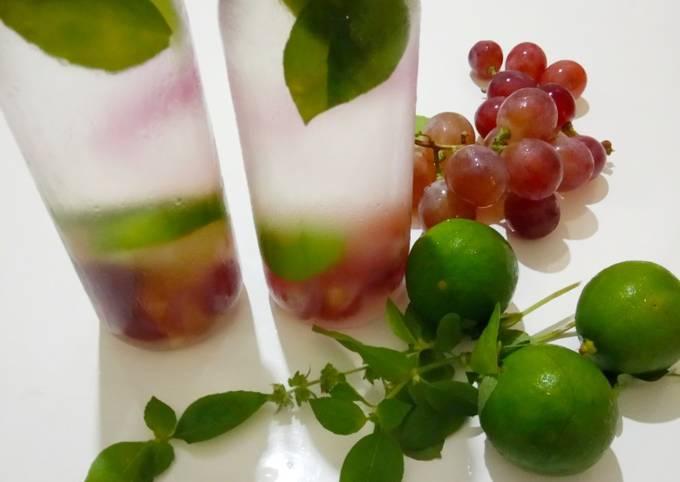Infused water anggur kemangi jeniper