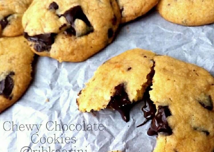 Chewy Chocolate Cookies, no mixer, lembut dan lumerrr