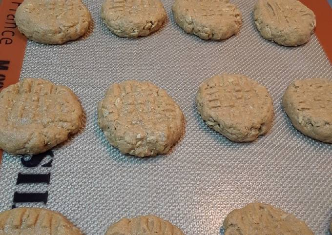 How to Chef Tasty 4 Ingredient Peanut Butter Oat Cookies