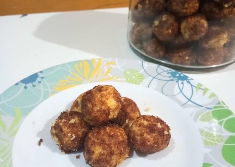 Palm sugar cookies versi ekonomis (no mixer no oven)
