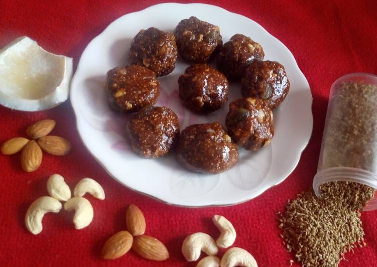 Simple Way to Prepare Homemade Carom seeds and jaggery ladoo