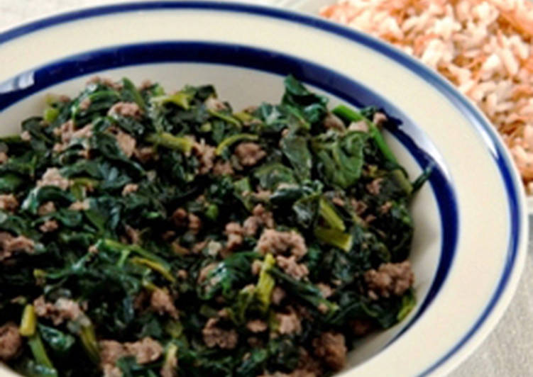 Easiest Way to Make Yummy Spinach and meat stew –sabanegh bi lahmeh
