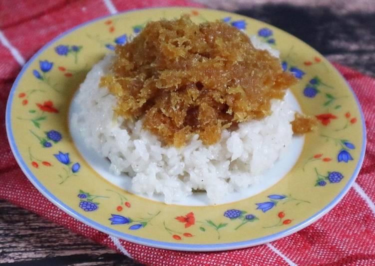 KETAN PULUT UNTI jajanan tradisional Mandailing