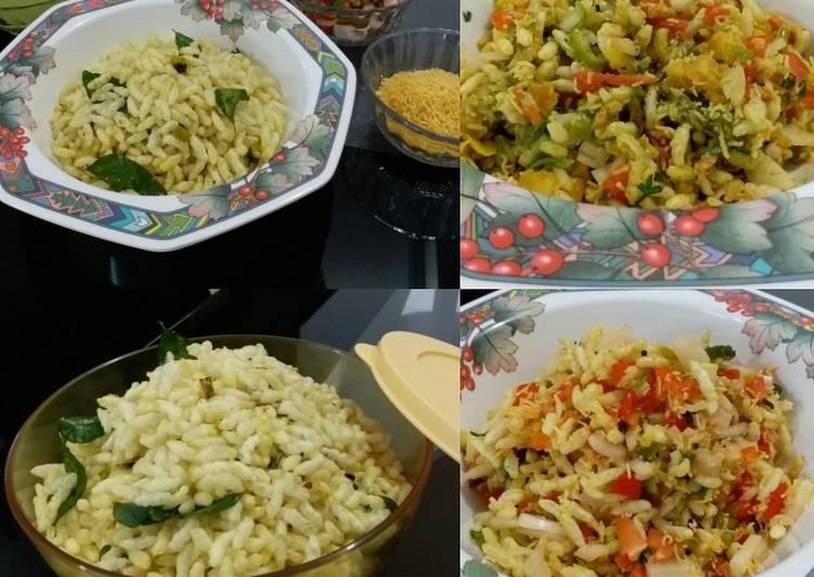 Mumbai Style Spicy Murmura (Spicy Roasted Puffed Rice)