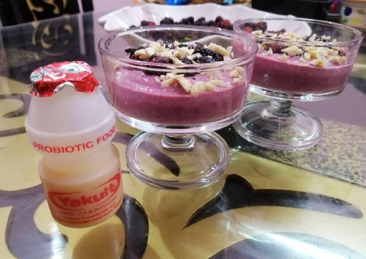 Recipe of Perfect Yakult Mulberry Shrikhand
